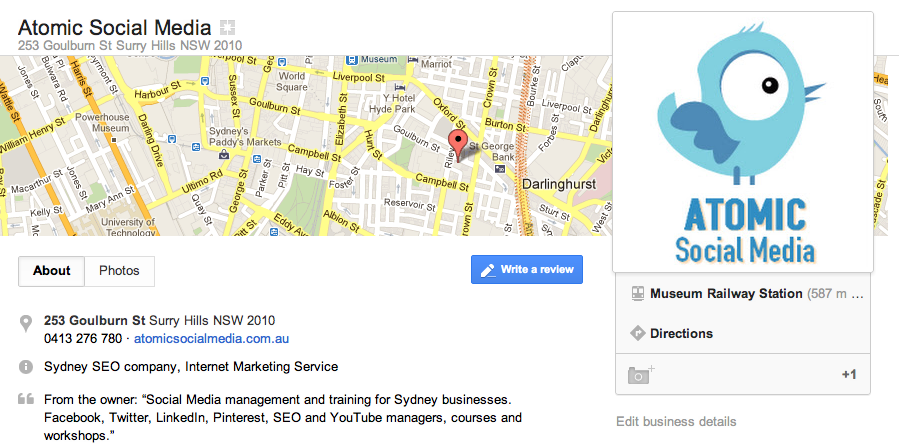 sydney social media training seo management australia google places optimisation